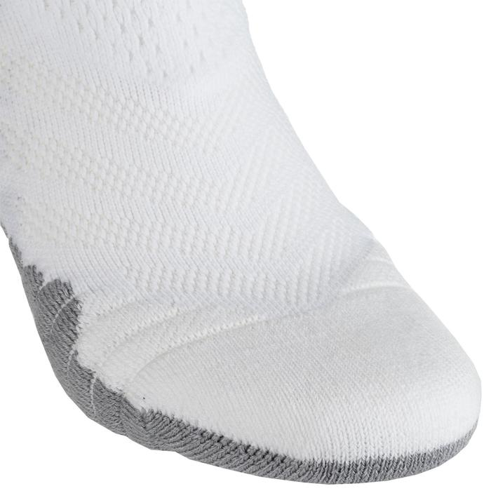 Men's/Women's Mid-Rise Basketball Socks SO900 - White/Grey