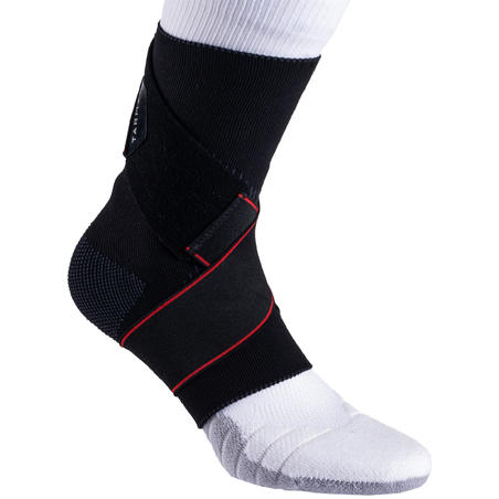 Strong 100 Men's/Women's Right/Left Ankle Ligament Support - Hitam