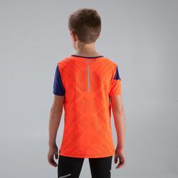 Kiprun children's athletics T-shirt neon blue red