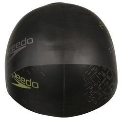 Keerbare siliconen badmuts zwart/geel - 156555