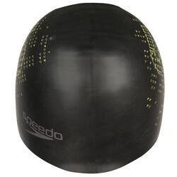 Keerbare siliconen badmuts zwart/geel - 156561