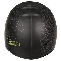 Keerbare siliconen badmuts zwart/geel - 156563