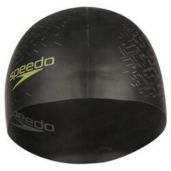 Keerbare siliconen badmuts zwart/geel - 156566
