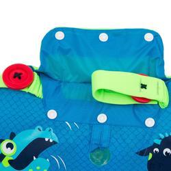 兒童漸進式游泳臂圈-腰帶TISWIM - 藍色「龍圖案」印花