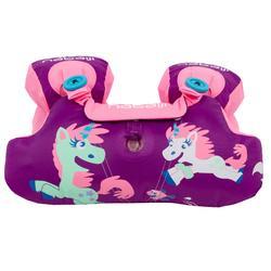 """Manguitos-cinturón natación evolutivo TISWIM niños violeta estampado """"UNICORNIO"""""""