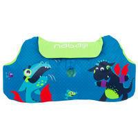 Manguitos-cinturón de natación evolutivos TISWIM niño azul estampado «DRAGÓN»
