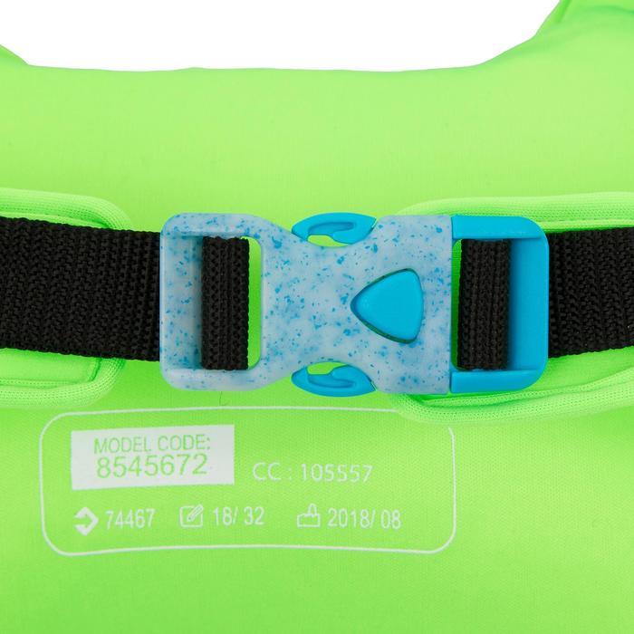 Manguitos Cinturón Natación Nabaiji Azul/Verde Estampado Dragón 15 a 30kg