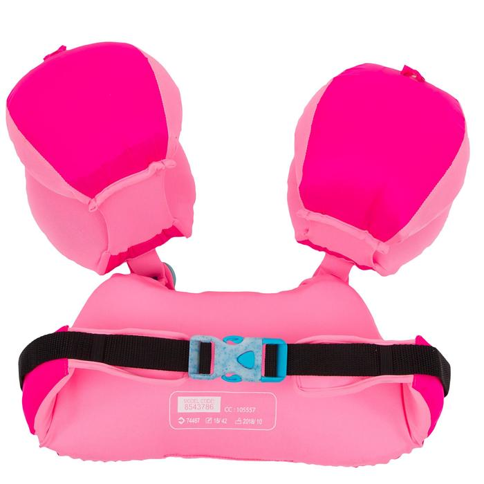 Manguitos Cinturón Natación Nabaiji Rosa Estampado Flamenco 15 a 30kg
