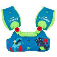 """Manguitos-cinturón de natación evolutivos TISWIM niño azul estampado """"DRAGÓN"""""""