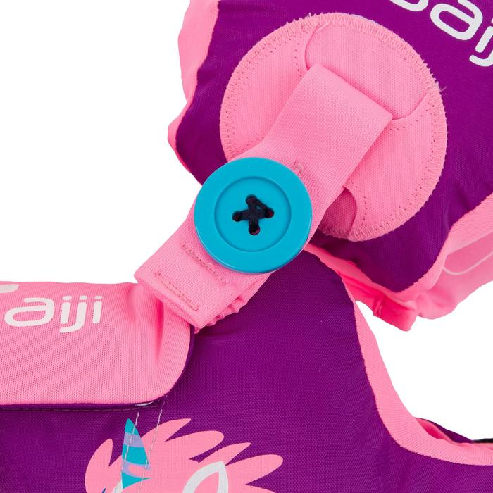 Manguitos Cinturón Natación Nabaiji Morado/Rosa Estampado Unicornio 15 a 30kg