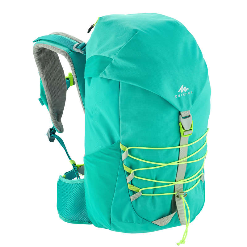 CHILD HIKING BACKPACKS Hiking - MH500 Kids 18L Backpack - Turquoise QUECHUA - Hiking Backpacks and Bags