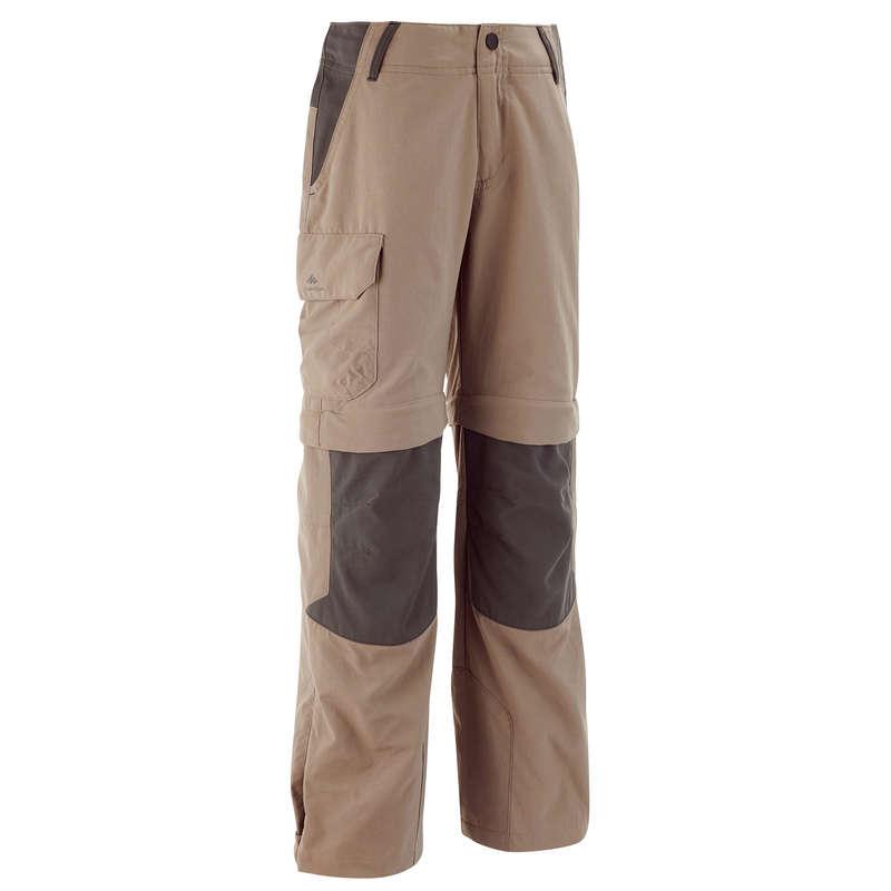 SORTURI TRICOURI AVANSAT 7-15 ani Drumetie,Trekking - Pantalon Modulabil MH550  QUECHUA - Imbracaminte