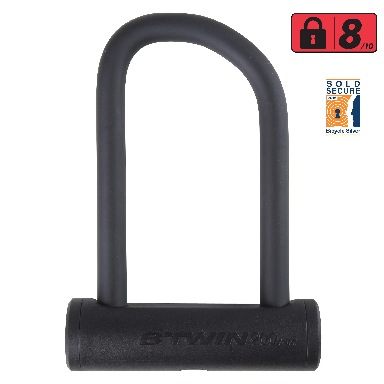 900 Mini Bike U-Lock - Black