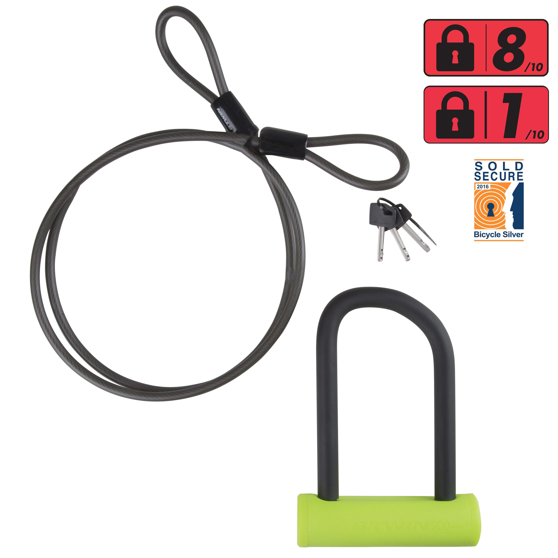 900 Mini Cable U-Lock Set