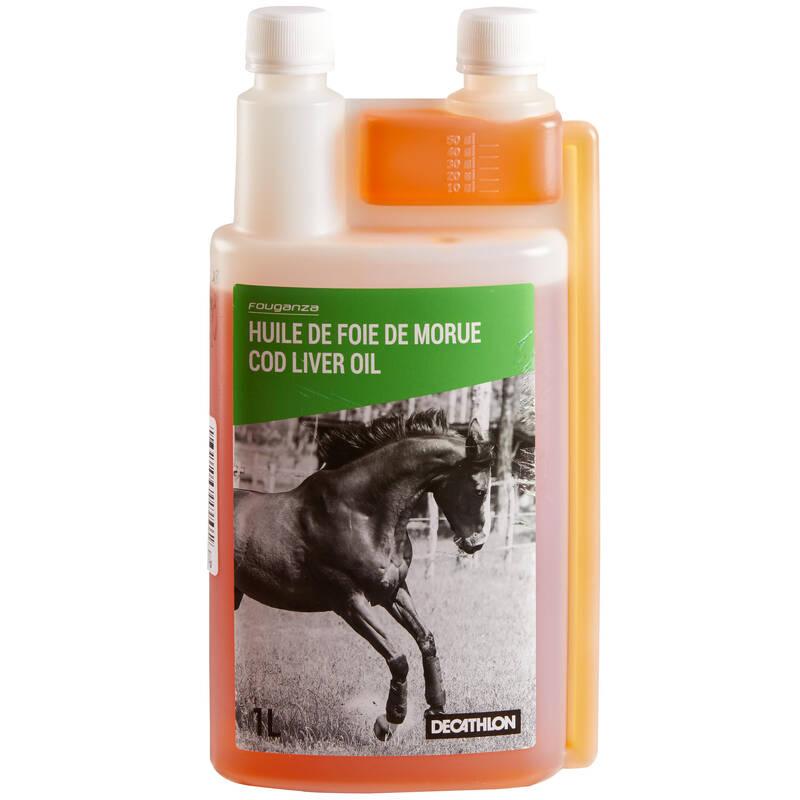 DOPLŇKY STRAVY PRO KONĚ Jezdectví - OLEJ Z TRESČÍCH JATER 1 L FOUGANZA - Péče o koně