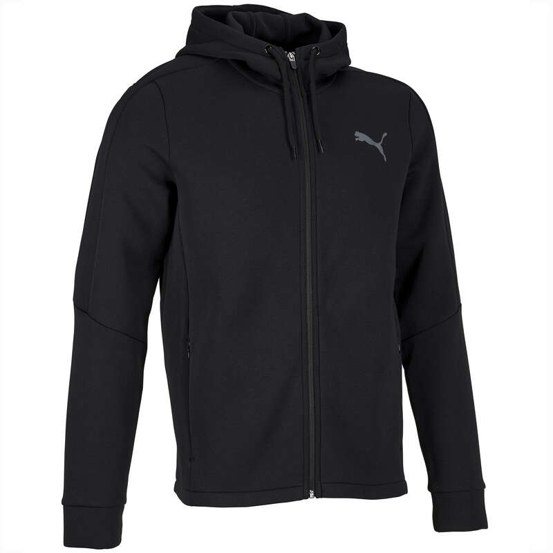 MAN GYM, PILATES COLD WEATHER APPAREL Clothing - 900 Gym Hoodie - Black PUMA - Tops