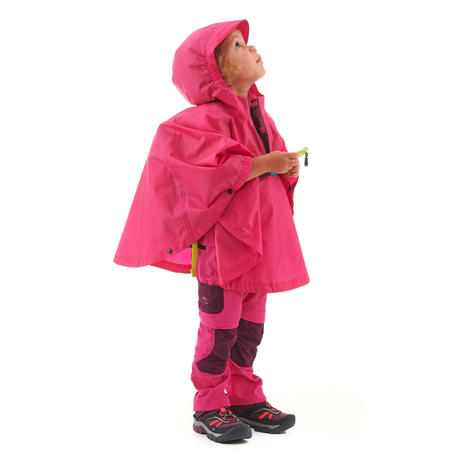 MH100 waterproof hiking poncho - Kids