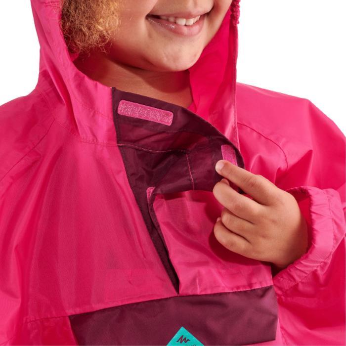 兒童款防水健行防水斗篷MH100-粉紅色