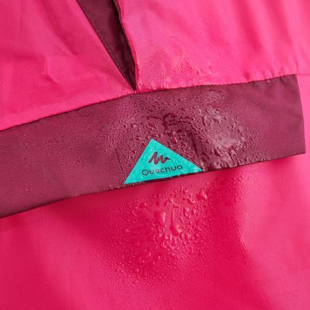 Poncho impermeable de senderismo - MH100 KID rosa - júnior