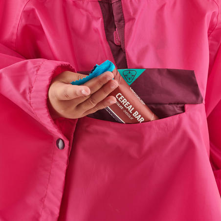Poncho Hiking Tahan Air Anak-anak - MH100 KID - Pink