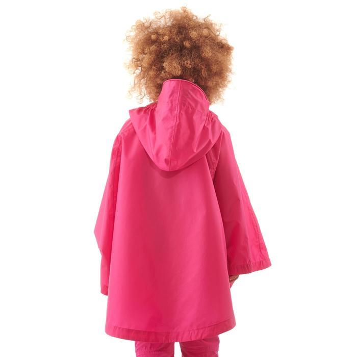 Poncho imperméable de randonnée enfant MH100 rose