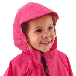 Kids Waterproof Hiking Poncho - MH100 KID - Pink