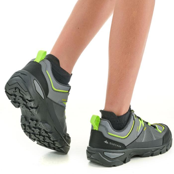 兒童款低筒健行鞋MH120(35號到38號)-灰色