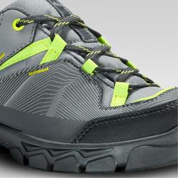 Kids Low Lace-up Hiking Shoes MH120 LOW 35 TO 38 - Grey