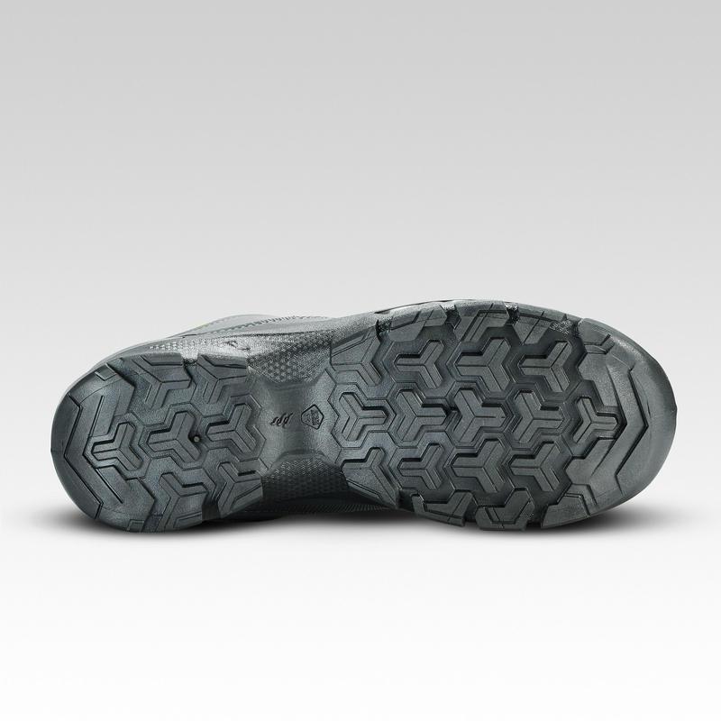Chaussures de randonnée enfant basses avec lacet MH120 LOW grises 35 AU 38