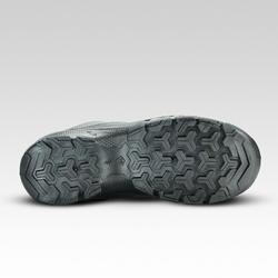 Zapatillas de montaña niños talla 35-38 cordones MH120 gris