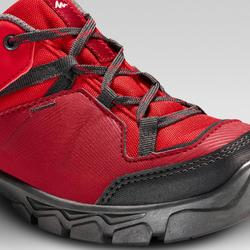 Wanderschuhe mit Schnürsenkeln MH120 Kinder rot