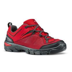 Zapatillas de senderismo júnior con cordones MH120 LOW rojo 35 A 38