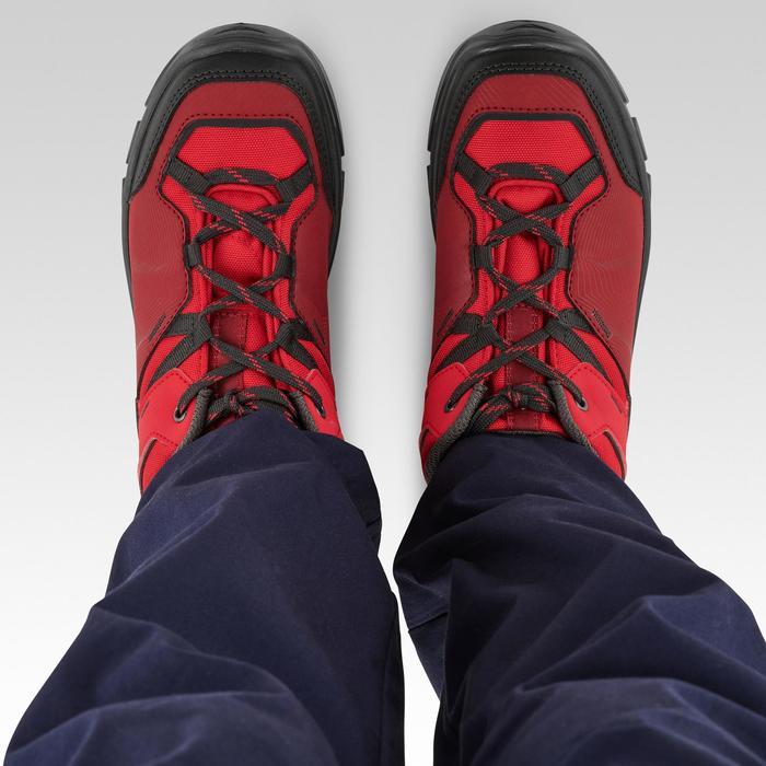Chaussures de randonnée enfant basses avec lacet MH120 LOW rouges 35 AU 38
