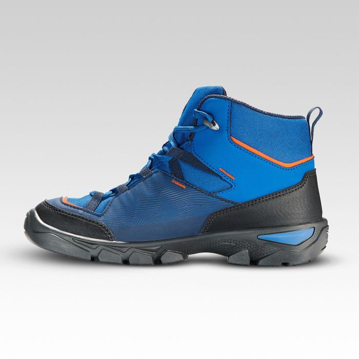 兒童款防水中筒健行鞋MH120,尺寸35至38號-藍色