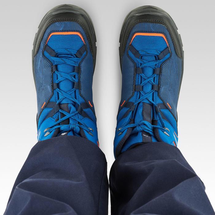 Botas de senderismo júnior impermeables MH120 MID azul 35 A 38