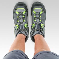 Chaussures imperméables de randonnée -MH120 MID grises- enfant 35 AU 38