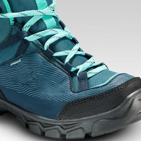Chaussures imperméables de randonnée - MH120 MID turquoises - enfant 35 AU 38