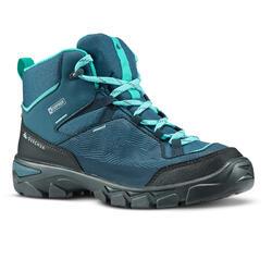 Waterdichte halfhoge wandelschoenen voor kinderen MH120 35 tot 38 turquoise