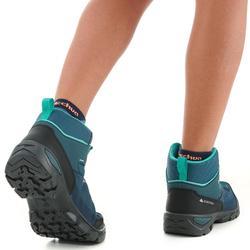 Hoge waterdichte wandelschoenen voor kinderen MH120 turkoois 35 tot 38