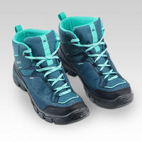 Chaussures de randonnée montantes imperméables MH120 turquoise 4-7,5 - Enfants
