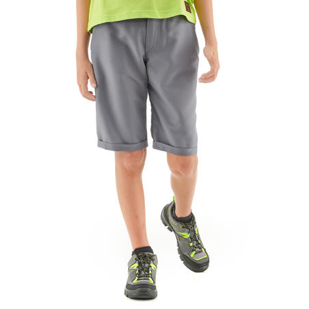 Children's hiking shorts - MH100 grey