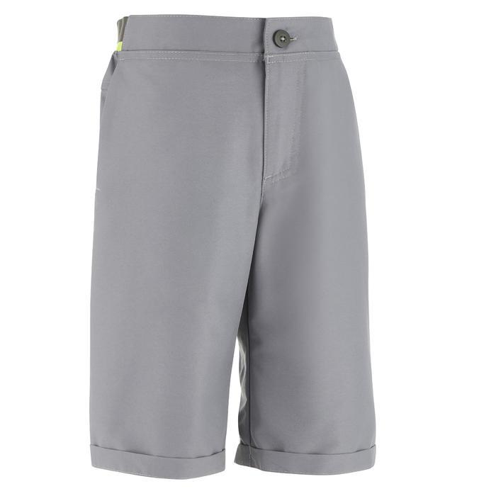 Pantalón corto de senderismo júnior MH100 gris 7 A 15 AÑOS
