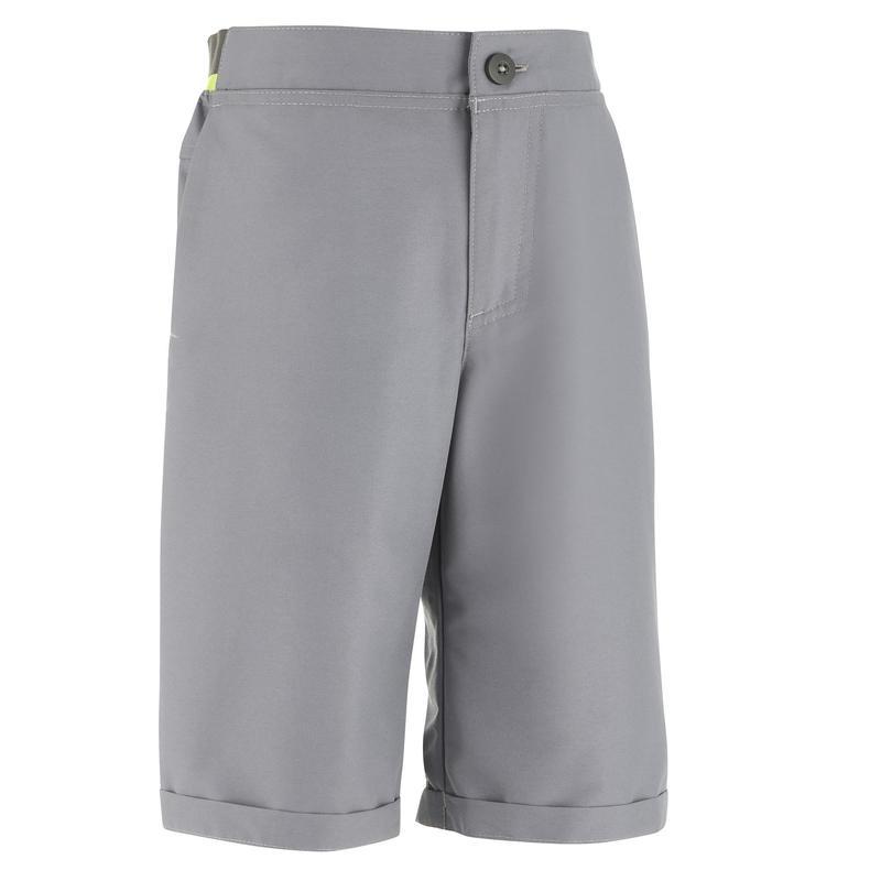 Short montagna bambino 7-15 anni MH100 grigio