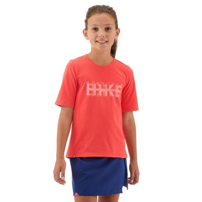 T-Shirt Wandern MH100 Kinder koralle