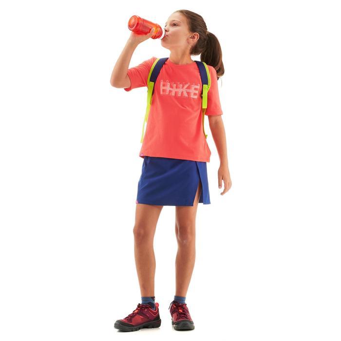 Camiseta de senderismo júnior MH100 rojo coral 7 A 15 AÑOS