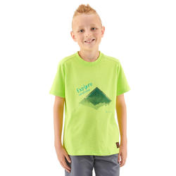 MH100 Children's Hiking T-shirt - Green AGE 7 TO 15 YEARS