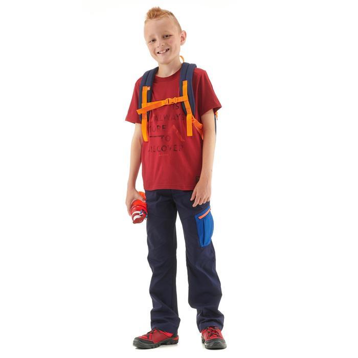 T-SHIRT de randonnée enfant MH100 rouge bordeaux 7 A 15 ANS