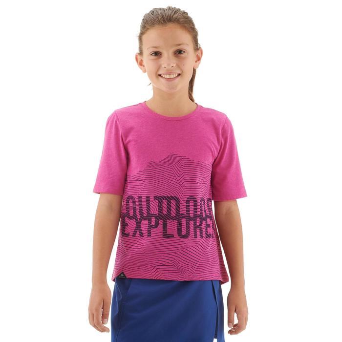 T-Shirt de randonnée enfant MH100 rose 7 A 15 ANS