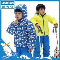 Baby Skiing/Sledging Reversible Jacket Warm - Yellow