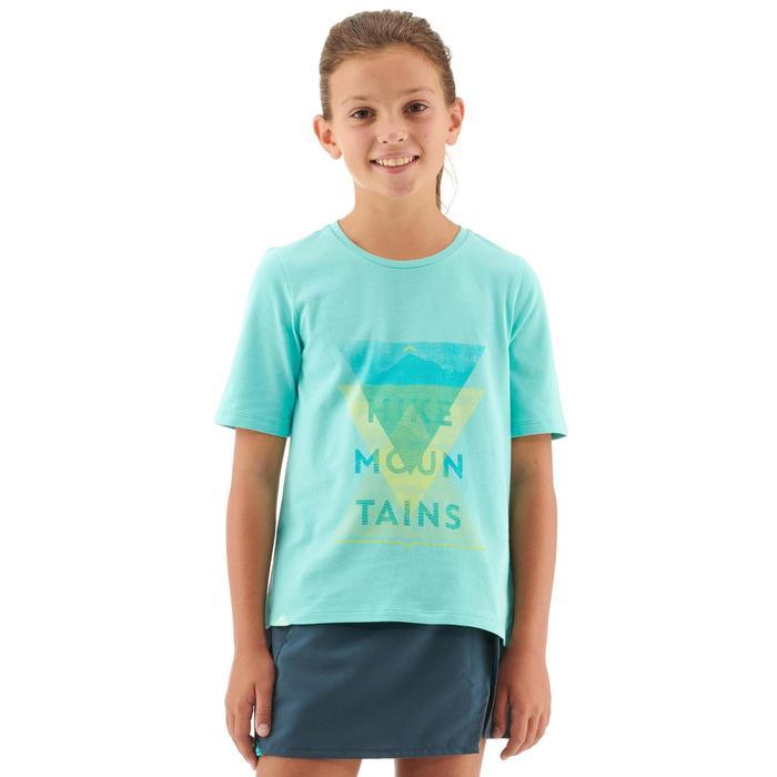 T-Shirt Wandern MH100 Kinder türkis